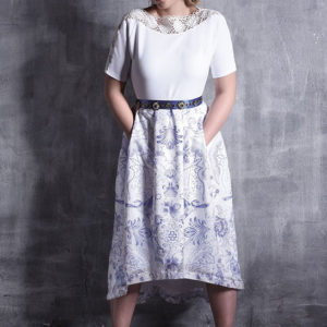 ICEFLOWER Printdress